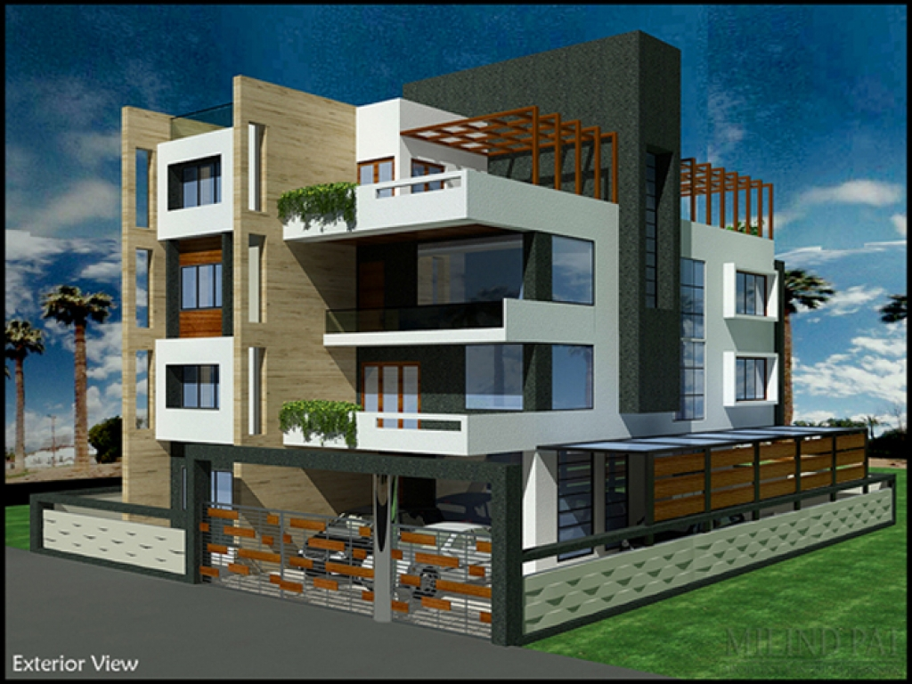 Bungalow exterior lighting india bungalow exterior designs for Indian bungalow house designs
