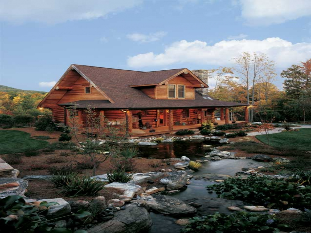 Log cabin homes north carolina log cabin homes with pools for Log cabin style house