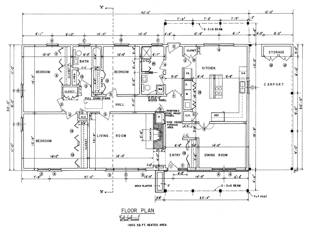 Old ranch house free ranch house floor plans simple house for Old ranch house plans