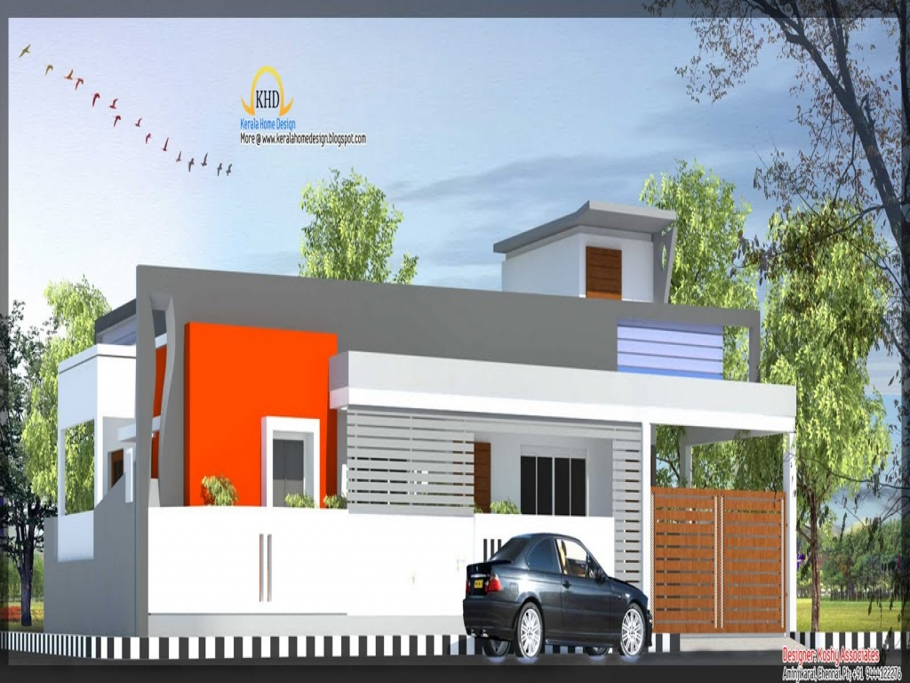 Front Elevation Of House Single Floor : Single floor house elevation front indian home