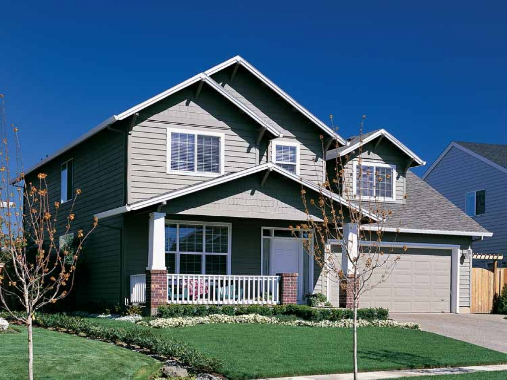 Two story craftsman style house plans two story bungalow for 1 1 2 story house plans