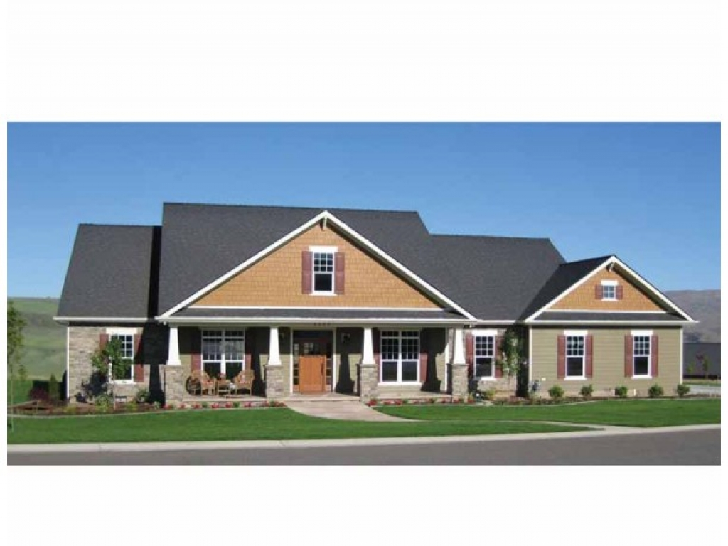 House plans ranch style home rectangular house plans ranch for 5 bedroom craftsman house plans
