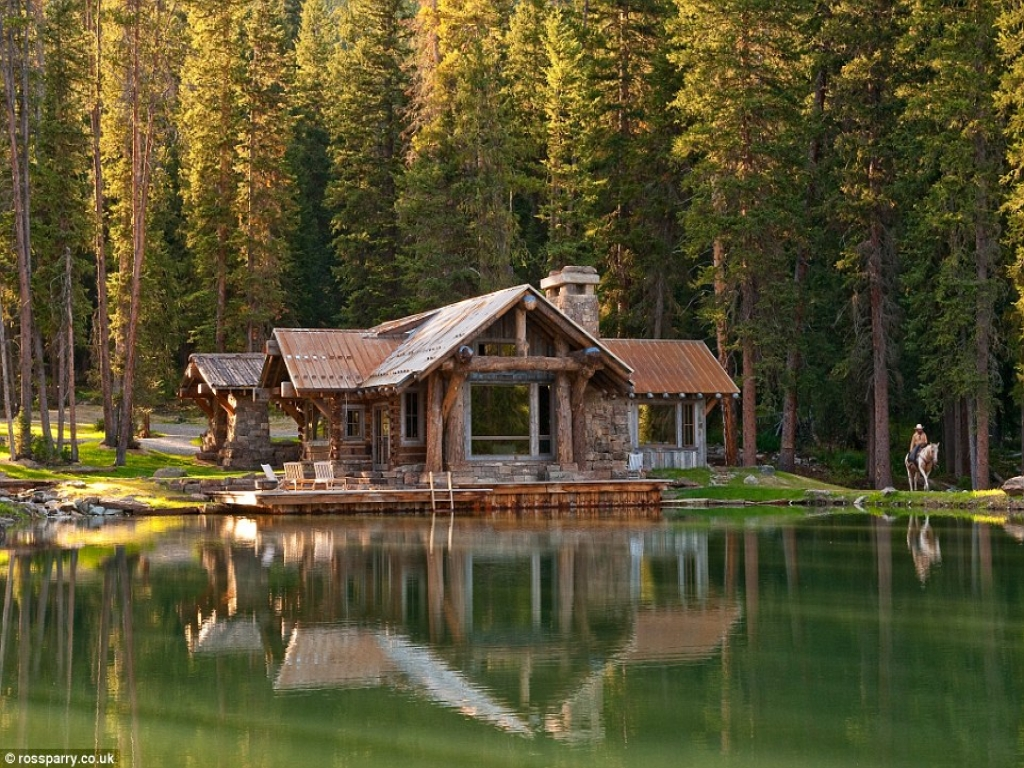 Log cabins on lake george log cabins lakes log cabin for Log home architects