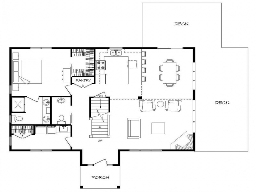 Log home plans with open floor plans log home plans with for Log home living floor plans