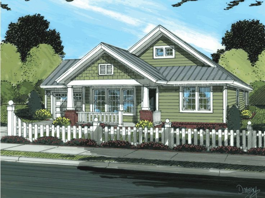 Modern ranch style house plans craftsman style bungalow for Craftsman bungalow designs