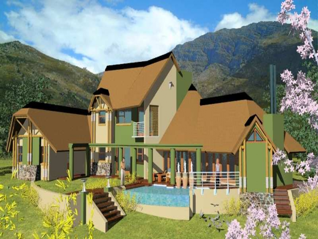 Nice houses in south africa south africa thatched house for Thatched house plans