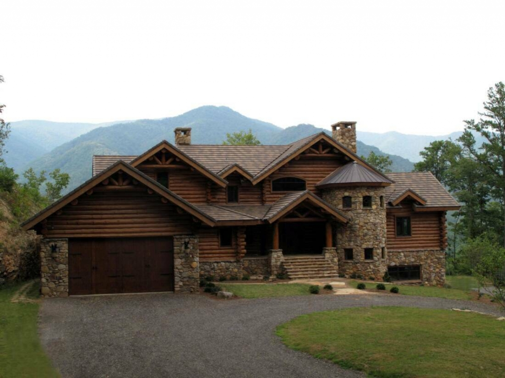 North carolina mountain log home north carolina log cabin for Cottage builders nc