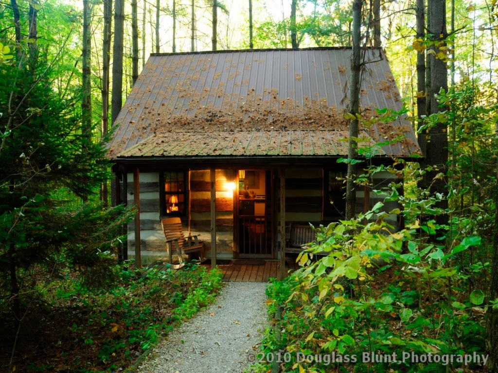 Rustic Log Cabin Old The Woods Simple Cabins Treesranch