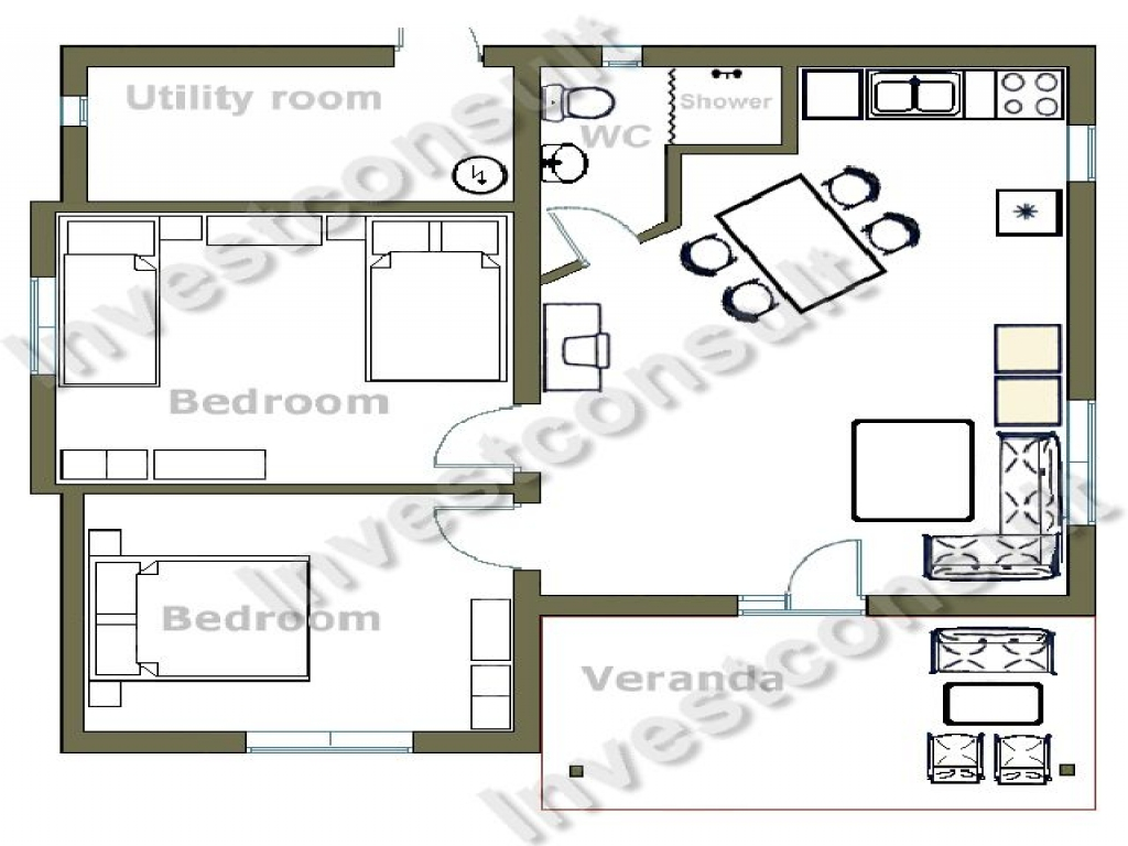 Dual Master Bedroom Floor Plans: Small Two Bedroom House Floor Plans House Plans With Two