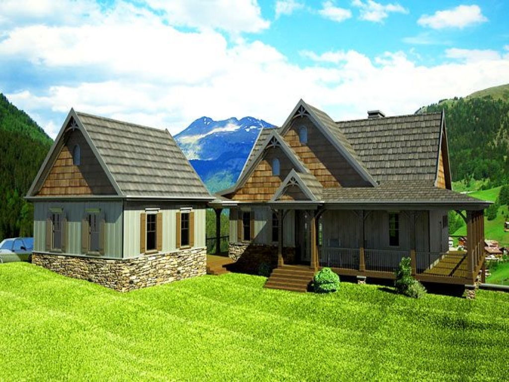 Wrap around Porch House Plans with Basement Farmhouse with