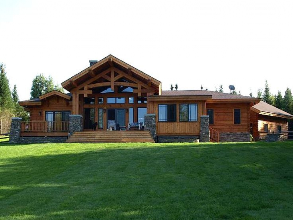 Craftsman style log home craftsman bungalow style homes for Ranch style timber frame homes