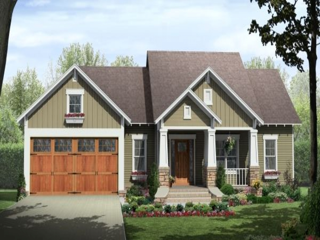 Home style craftsman house plans single story craftsman for Single story craftsman homes