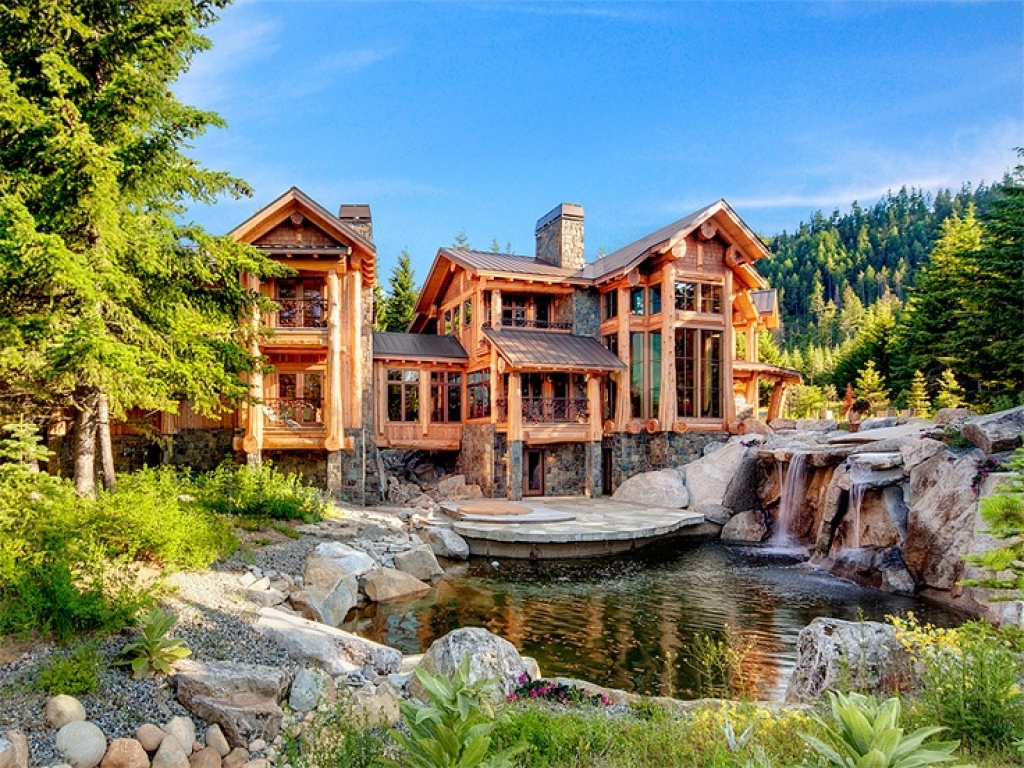 Log Cabin Mansions ~ Log cabin dreamhouse mansion pools home