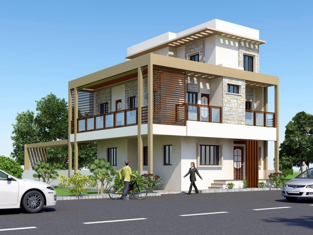 Front Elevation Simple Design : Simple house elevations front elevation indian