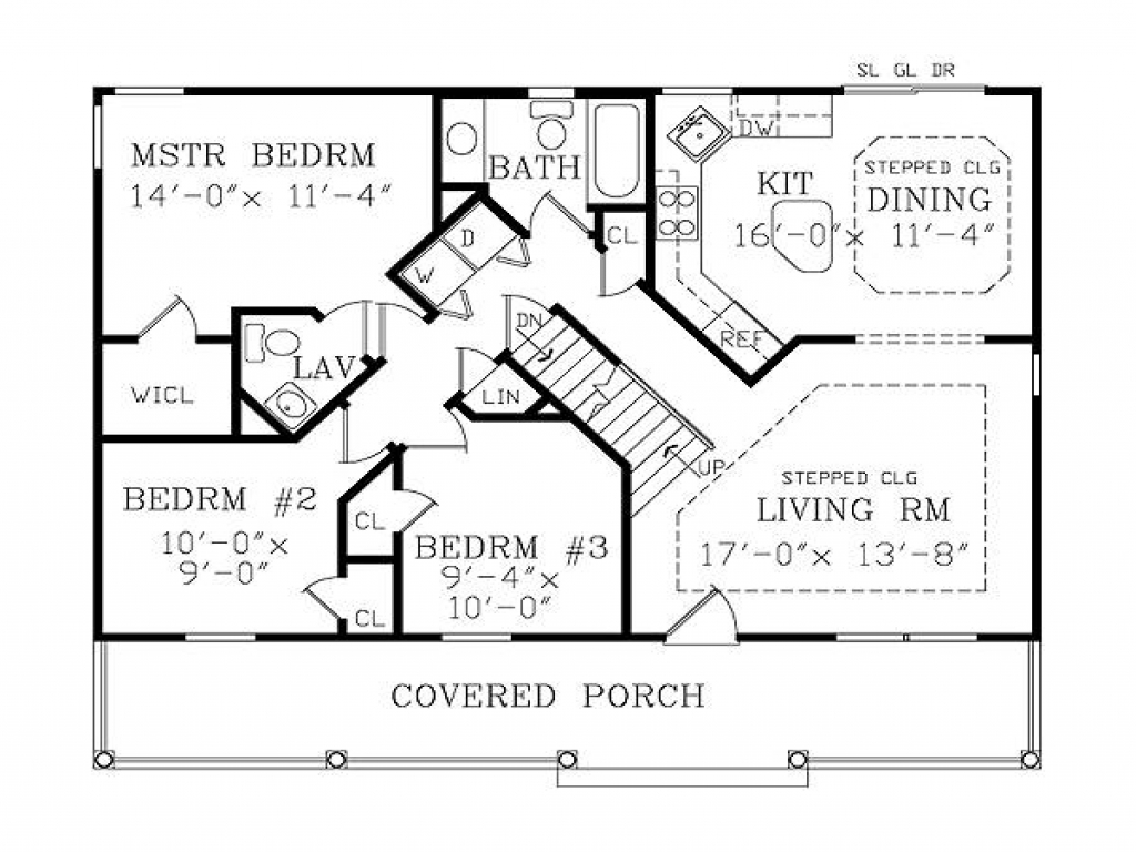 Small house floor plans with basement cute small house for One level house plans with basement