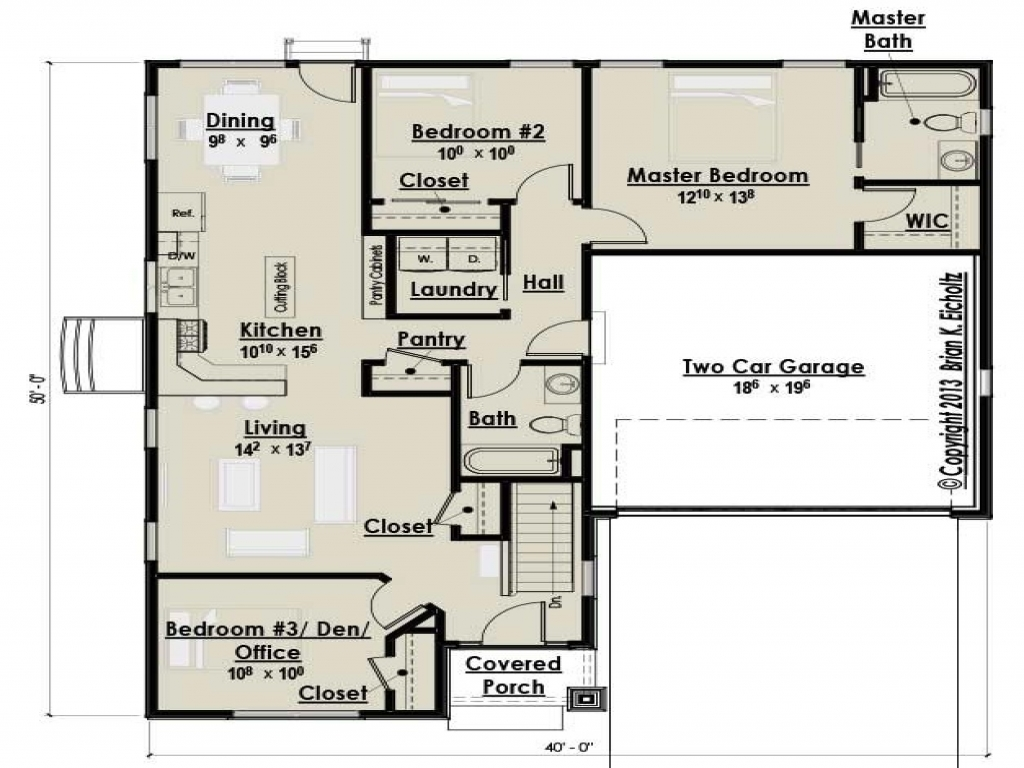 Small three bedroom cottage house plans farmhouse bedroom for Contemporary designs of one bedroom cottages