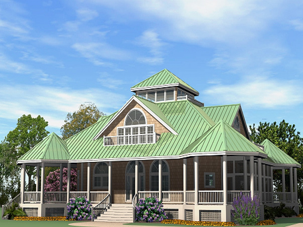Southern house plans with wrap around porch single story for Cabin plans with wrap around porch