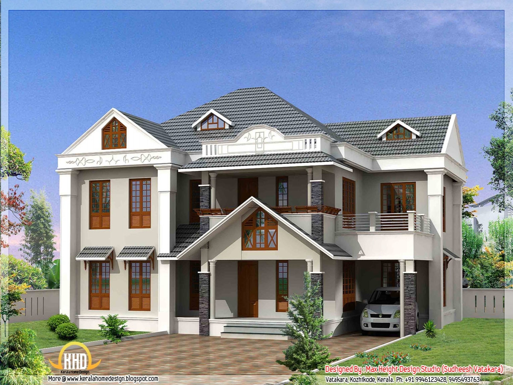 Beautiful house designs kerala style most beautiful houses for Most beautiful house plans