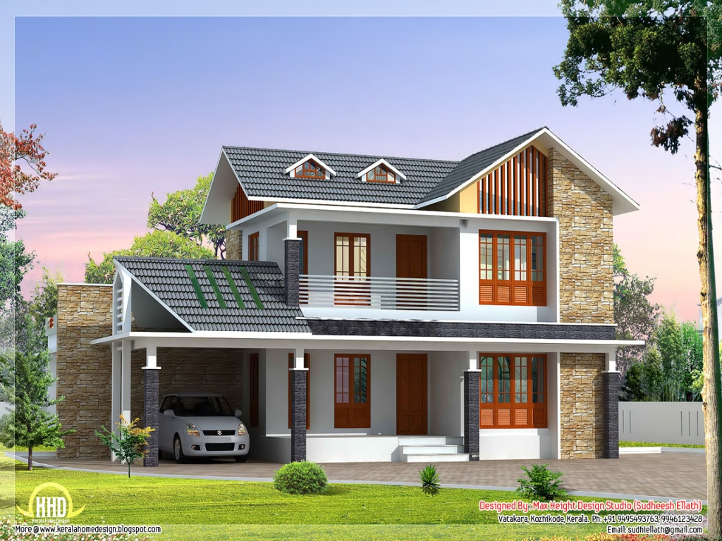 Beautiful villa house designs small house exterior design for Villas exterior design