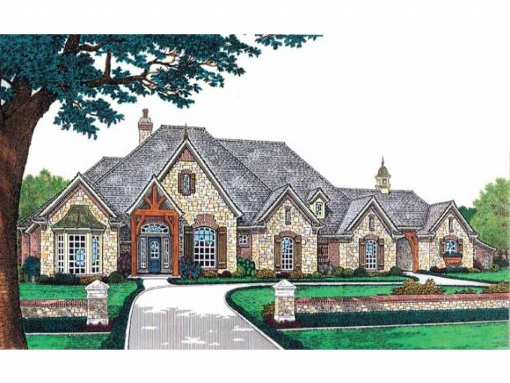 Luxury french country house plans french country for One level country house plans