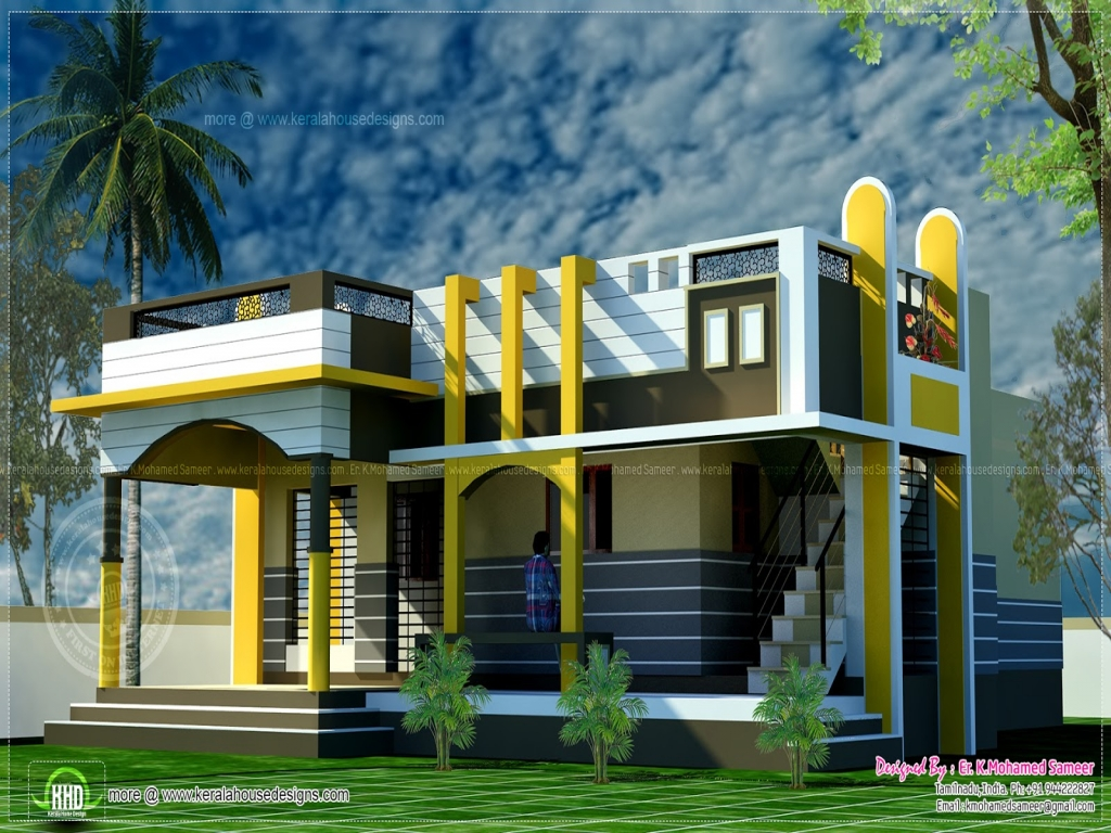 Front Elevation Designs With Balcony : Small home kerala house design photo gallery