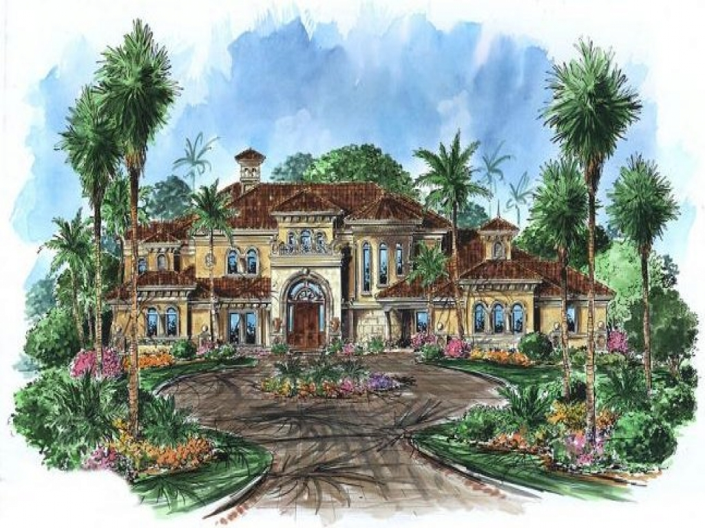 Spanish Hacienda Style Homes Home Style Tuscan House Plans
