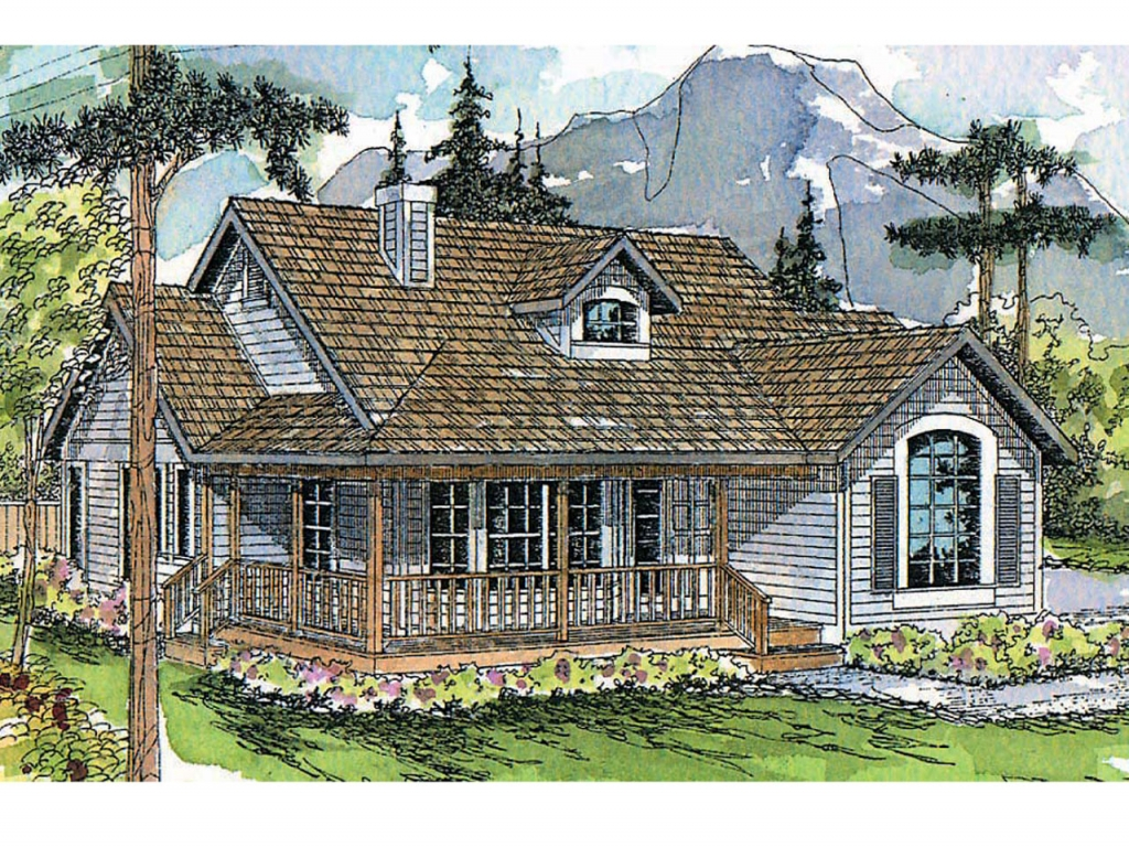 Craftsman house plans with porch craftsman cottage style for Cottage house plans with porch