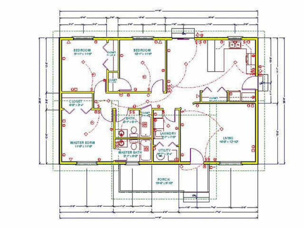 Large tall log cabin houses cabin ranch style house plans for Ranch style floorplans