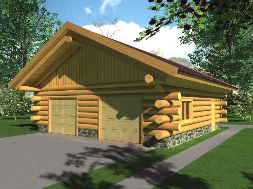 Log home and garage log home kits log home floor plans for Log home garage kits