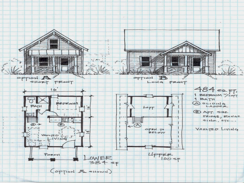 Small cabin plans with loft unique small cabin plans for Sleeping cabin plans