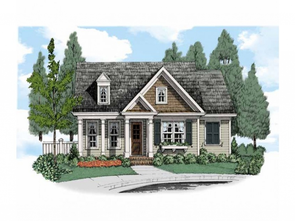 Small country cottage charming small cottage house plans for Country bungalow house plans