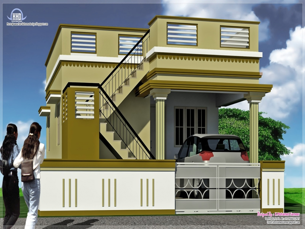 Front Elevation Of Small Hotels : Small mansion house elevations front elevation indian