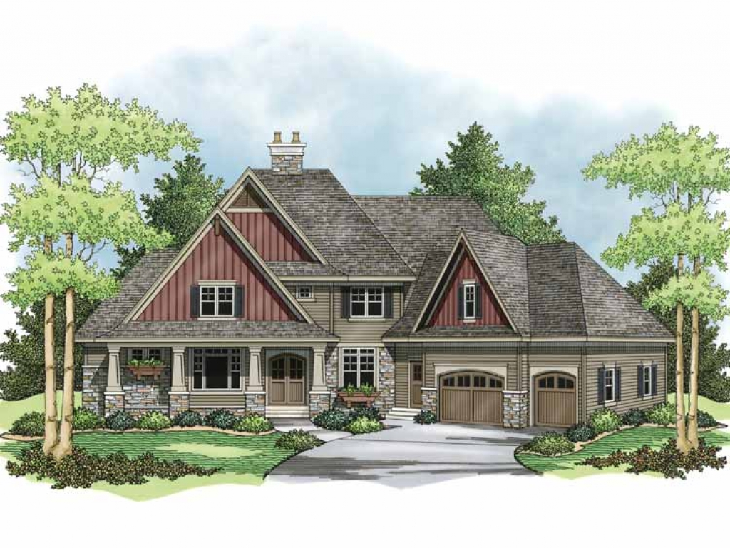Two story craftsman style homes exterior colors 2 story craftsman house plans two story - Colorful house plans ...