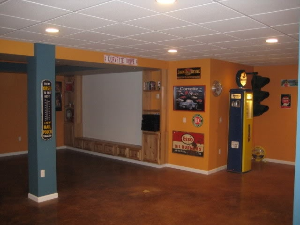 Concrete basement floor ideas cheap paint cement basement floor ideas log home basement ideas - Cheap finished basement ideas ...