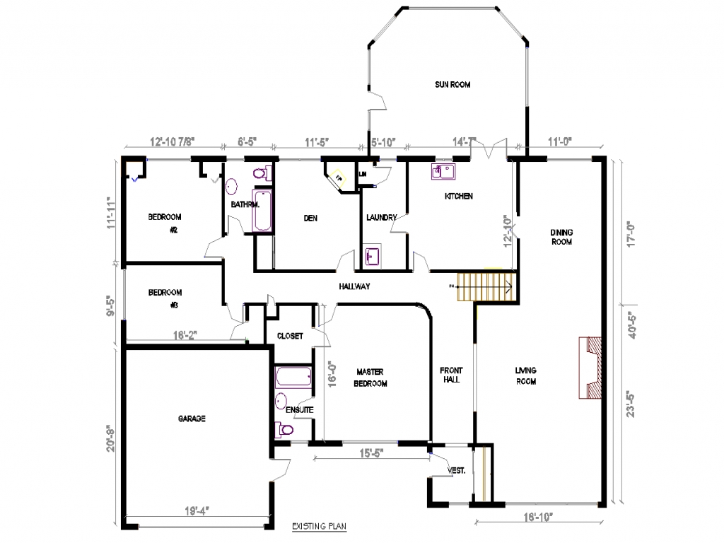 4 Bedroom Ranch Home Plans