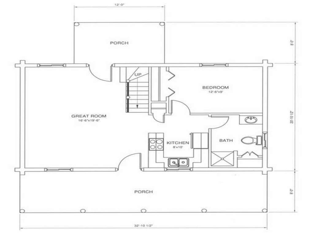 Modern log cabin floor plans log cabin kitchens cabin for Contemporary log home plans