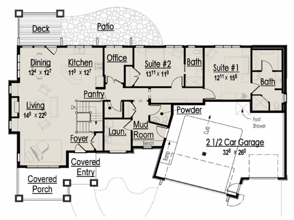 Retirement home design plans 3 bedroom home floor plans for Retirement home plans