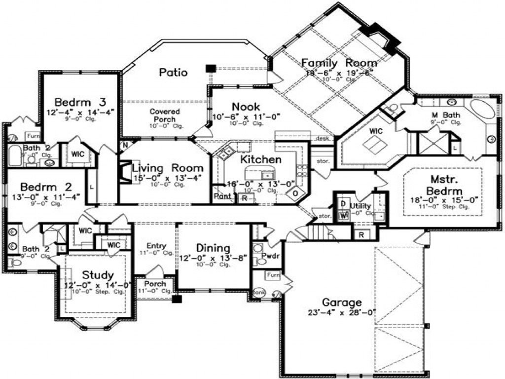 4 bedroom 3 bath house plans 4 bedroom 3 bath appartments for 4 bedroom 3 bath floor plans