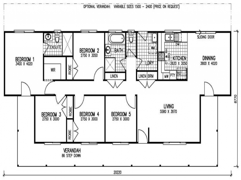 5 bedroom 3 bath mobile home 5 bedroom mobile home floor for 5 br house plans
