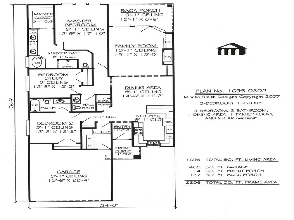 Best one story house plans one story narrow house plans for Best one story home plans