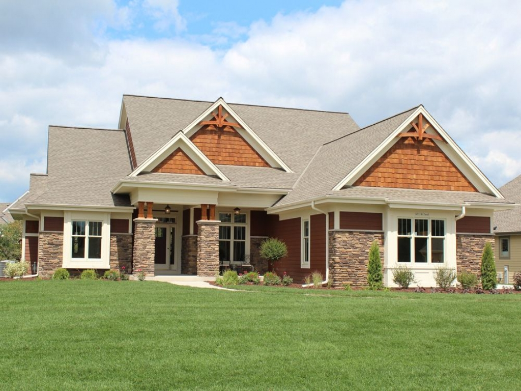 Craftsman Style Ranch Home Elevations Modern Ranch Style ...