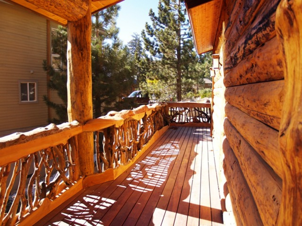 Decorative Wood Railings For Cabins Log Cabin Deck Railing