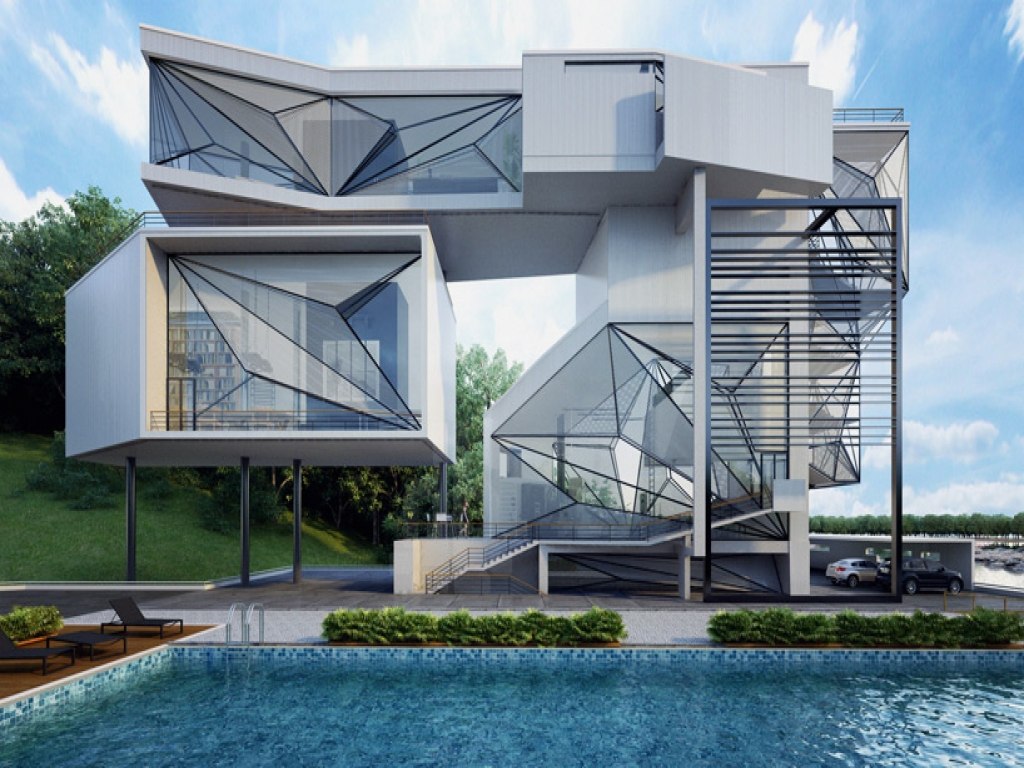 Office architecture design architect office lakeside home for Lakeside home designs
