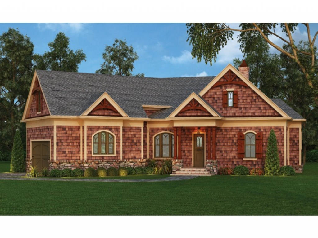 Craftsman style bungalow beautiful craftsman style ranch for New construction ranch style homes in illinois