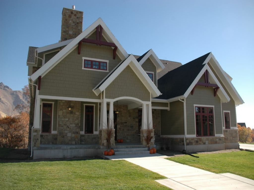 Craftsman style bungalow home plans craftsman style home for House design styles exterior