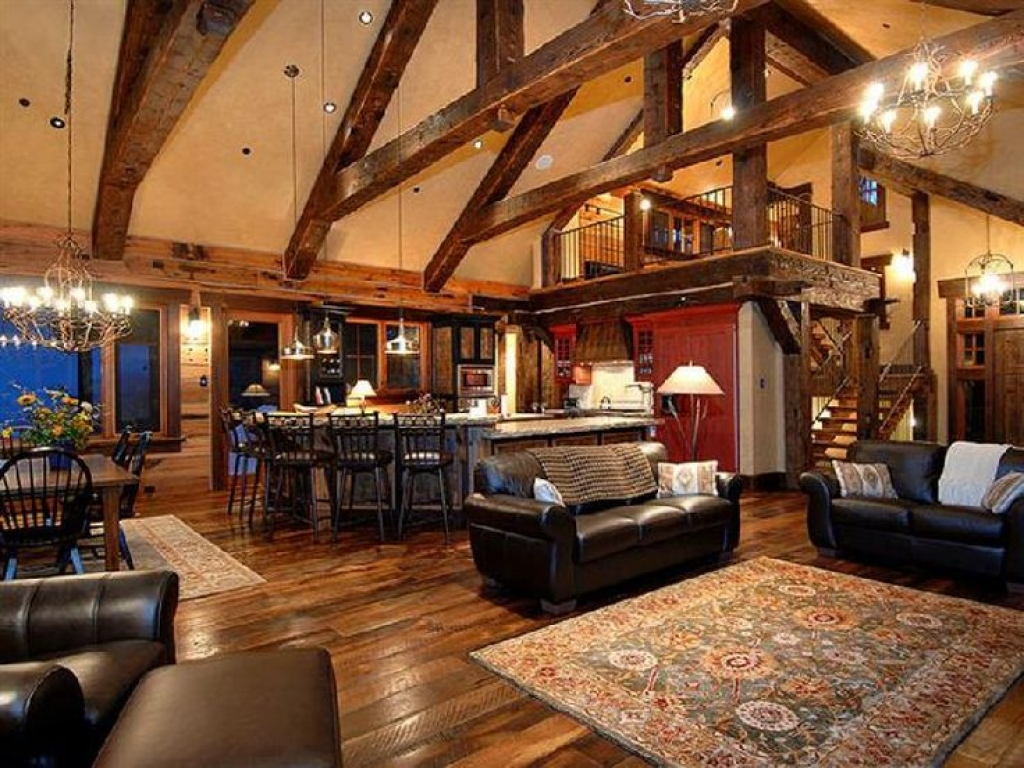 Rustic Open Floor Plans With Loft Simple Floor Plans Open