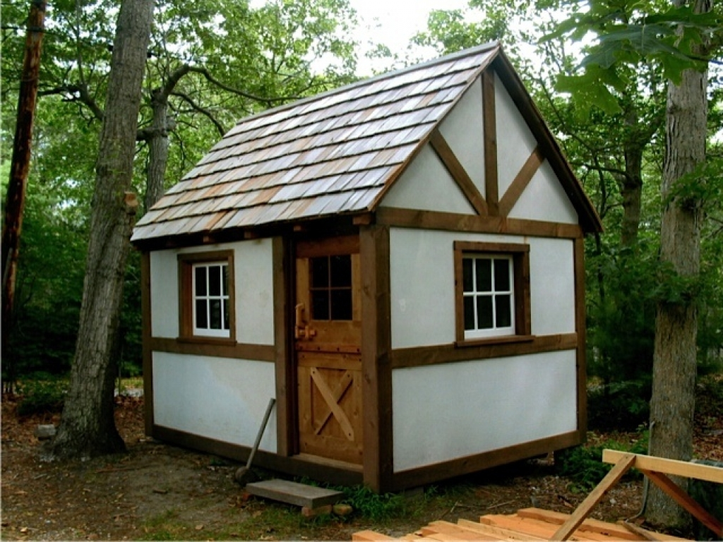 Small timber frame cabin plans tiny timber frame cabin for Small outbuilding plans