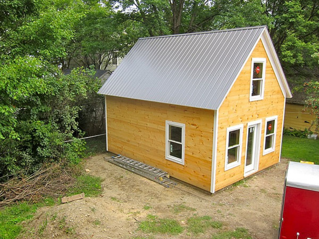 Storage Building Turned into Little Houses Small Backyard ...