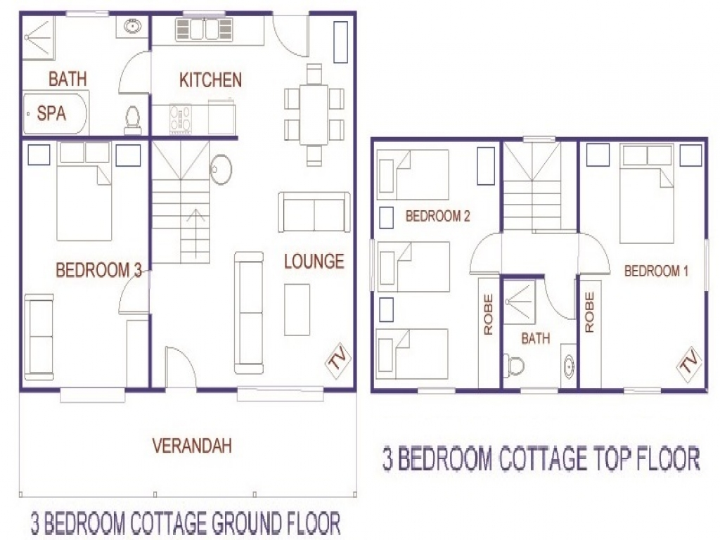 3 Bedroom Ranch Cottage 3 Bedroom Cottage House Plans Floor Plans For Small Cottages