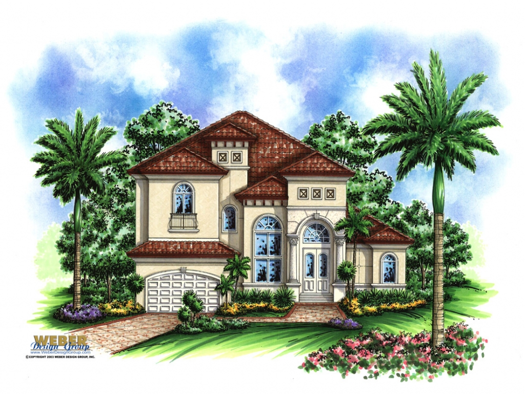 Award winning mediterranean house plans small for Mediterranean mansion floor plans
